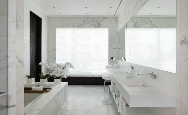 Bathroom With White Tiles 20141806