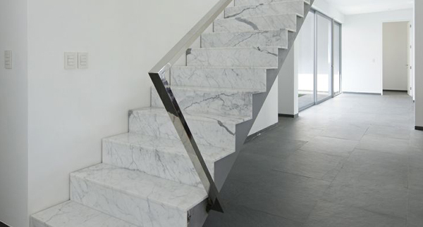 Marble Wall Stairs : Clever home design ideas stone stairs and steps surrey