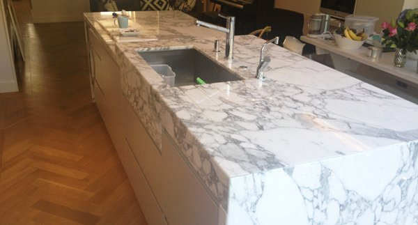 Arabescato Marble Worktop -kitchen installations and worktop installations