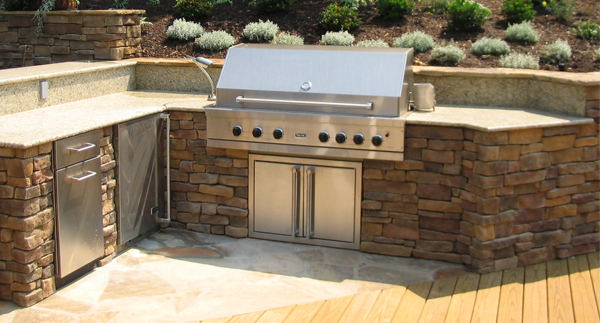 built in bbqs and outdoor surfaces surrey marble granite On outdoor kitchen worktops