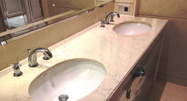 How to clean a stone bathroom