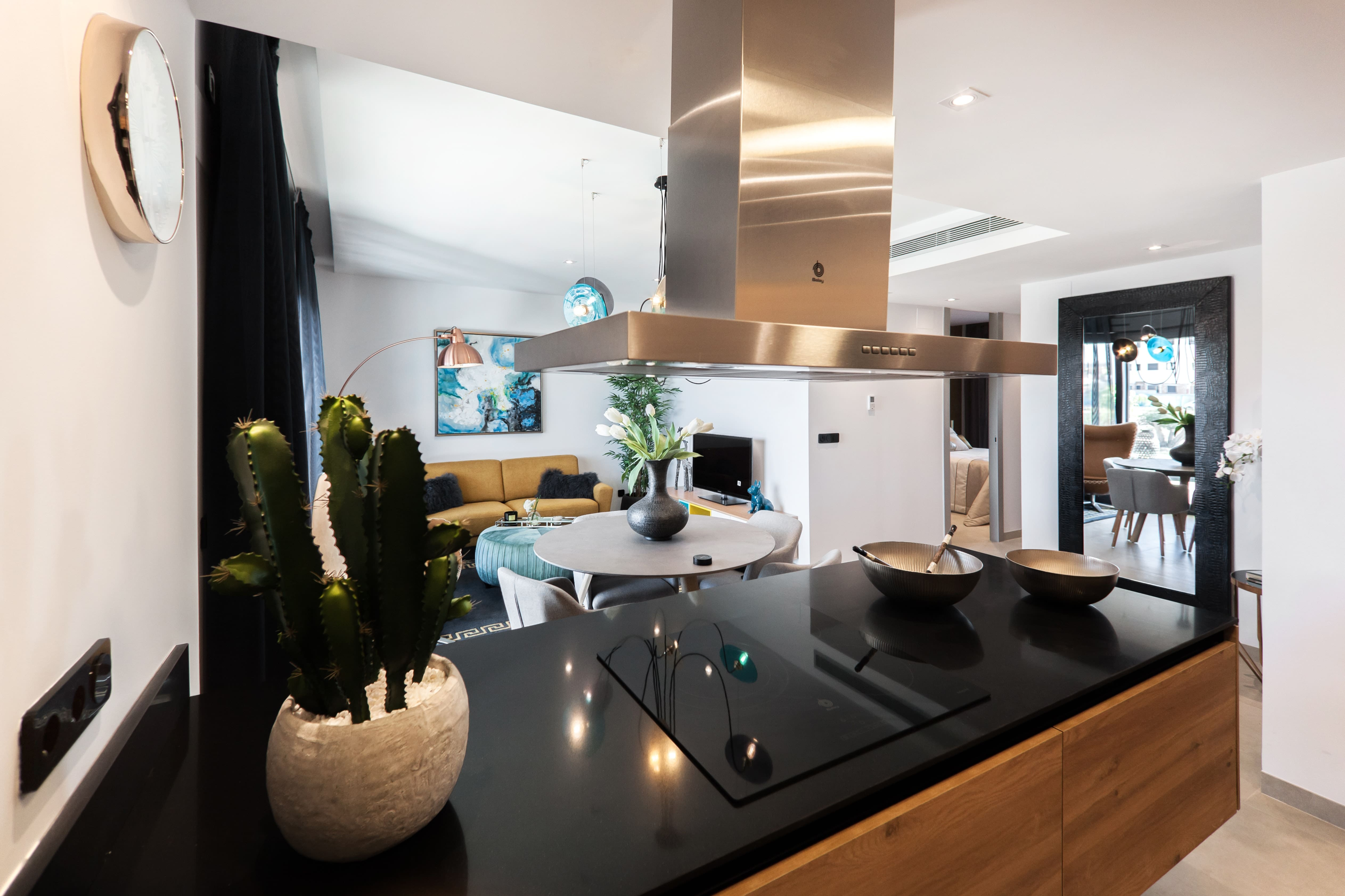 How a coloured worktop can transform a kitchen